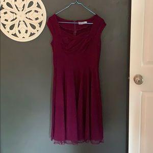 Dresses & Skirts - Plum pinup dress XL